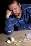 Bemannen Sie Drogenabhängigkeit-Problem Lizenzfreie Stockbilder