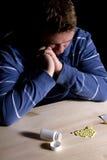 Bemannen Sie Drogenabhängigkeit-Problem Stockbild