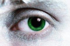 Bemannen Sie grünes Auge mit heller Verfassung Stockbild