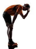Bemannen Sie Hitzeschattenbild der Abführung des Läufers Rüttler müdes atemloses lizenzfreie stockbilder