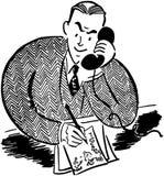 Bemannen Sie am Telefon 2 lizenzfreie abbildung