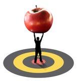 Bemannen Sie tragenden Apfel Lizenzfreies Stockfoto