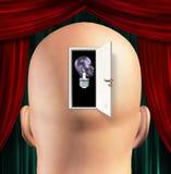 Bemannt den geöffneten Verstand Stockfotografie