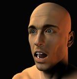 Bemannt Gesicht 3 Stockfotografie