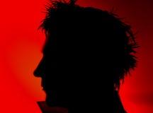 Bemannt Gesichtsschattenbild Lizenzfreies Stockbild