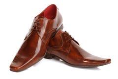 Bemant de schoenen van de leermanier Royalty-vrije Stock Afbeelding