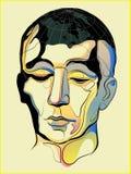 Bemant hoofd is een wereld vector illustratie