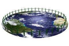 Bemant op de wereld vector illustratie