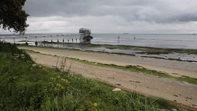 Bembridge beach and Lifeboat station house Isle of Wight Royalty Free Stock Photography