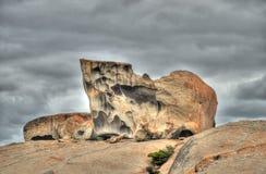 Bemerkenswerte Felsen auf Kangourou Insel Stockbild
