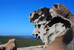 Bemerkenswerte Felsen, Flinders-Verfolgungs-Nationalpark Känguru-Insel, Süd-Australien Stockbild