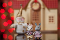 Bemerkenswerte Paare Spielzeughasen Lizenzfreies Stockbild