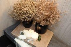 Bemerkte aromatherapy kaarsen royalty-vrije stock afbeelding