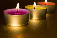 Bemerkte kaarsen Stock Foto