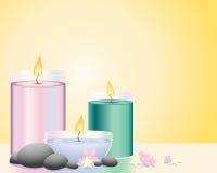 Bemerkte kaarsen Royalty-vrije Stock Afbeelding