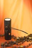 Bemerkte kaarsen en lamp Royalty-vrije Stock Afbeeldingen