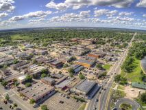 Bemidji è una città nel Minnesota centrale sulle rive di un lago con lo stesso nome fotografia stock libera da diritti
