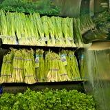 BEMIDJI, MANGAN - 8. FEBRUAR 2019: Grüner Gemüseabschnitt in einem Gemischtwarenladen stockfotos