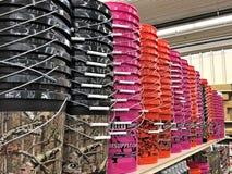 Free BEMIDJI, MN - 29 JUL 2019: Various Colored Plastic Pails Buckets On Shelves Stock Photo - 154642920