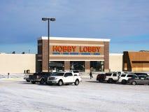 BEMIDJI, MN - 24 DEC 2018: Hobby Lobby store and parking lot in winter stock photos