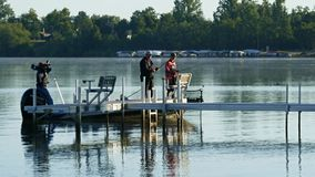 Bemidji, MN/US - August 12, 2017 [College bass fishing championship winners on Lake Irving]