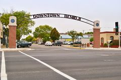 Gateway to Downtown Bemidji, Minnesota royalty free stock photography