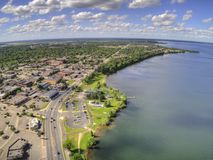 Bemidji is a Town in Central Minnesota on the Shores of a Lake with the same Name.  royalty free stock photos