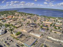 Bemidji is a Town in Central Minnesota on the Shores of a Lake with the same Name stock photos