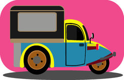 Bemo Cartoon. Cute vehicle clip art theme Royalty Free Stock Images