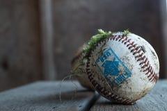 Bemoste baseballs Stock Fotografie