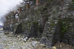 Bemoste Muur Stock Foto