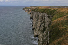 Bempton cliffs, looking towards flamborough head. Stock Images