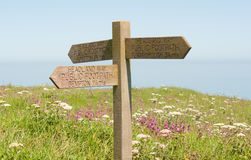 Bempton Cliffs Sign Stock Images