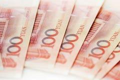 bemärker kinesisk valuta för sedelporslinet s yuan Royaltyfri Fotografi