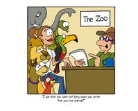 Job application for the local zoo vector illustration