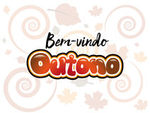 Bemvindo Outono Royalty-vrije Stock Foto