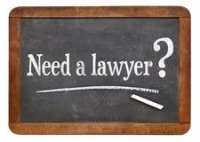Benötigen Sie eine Rechtsanwaltfrage Stockbild