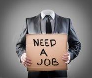 Benötigen Sie einen Job lizenzfreies stockfoto