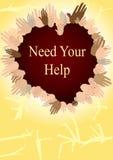 Benötigen Sie Ihre Hilfe lizenzfreie abbildung