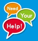 Benötigen Sie Ihre Hilfe Stockbild