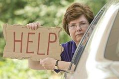 Benötigen von Hilfe Stockfoto