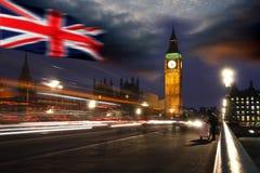 ben μεγάλη σημαία Λονδίνο UK τη&si Στοκ Εικόνες