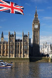 ben μεγάλη σημαία UK της Αγγλία Στοκ εικόνες με δικαίωμα ελεύθερης χρήσης