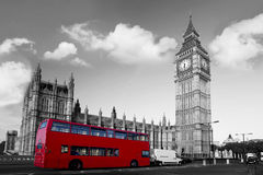 ben μεγάλος διάδρομος Λονδίνο κόκκινο UK Στοκ Εικόνα
