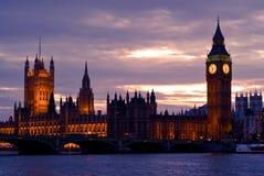 ben μεγάλος ορίζοντας της Αγγλίας Λονδίνο Στοκ Φωτογραφίες