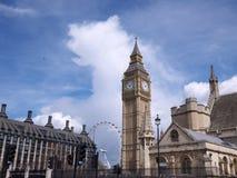 ben μεγάλος πύργος του Λονδίνου ματιών ρολογιών Στοκ Εικόνες