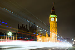 ben μεγάλη νύχτα του Λονδίνο&u Στοκ Φωτογραφία