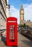 ben μεγάλο κόκκινο τηλέφωνο UK του Λονδίνου κιβωτίων Στοκ Εικόνες