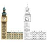 ben μεγάλο Λονδίνο διανυσματική απεικόνιση