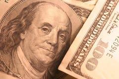 Ben 100 rachunku dolar Franklin Zdjęcia Royalty Free